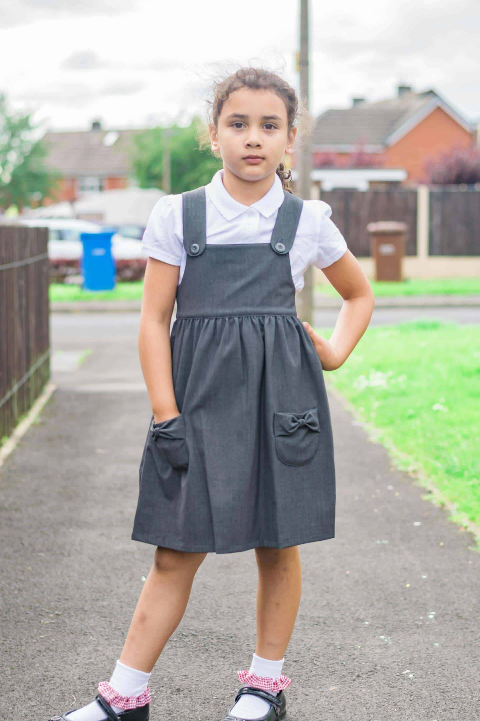 b1331dacc0 The Matalan uniform Pinafore is affordable and in our usual price bracket  for school uniform items. The socks came in a pair of three with different  ...