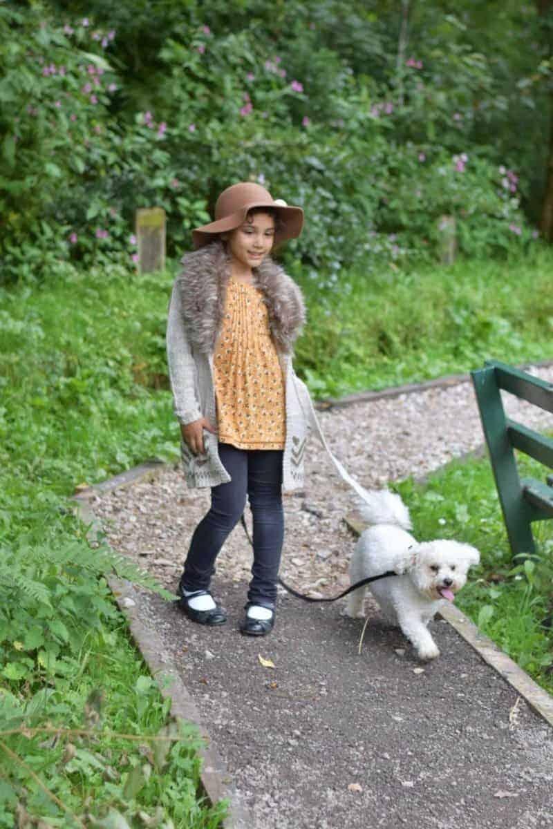 sylvia walking dog