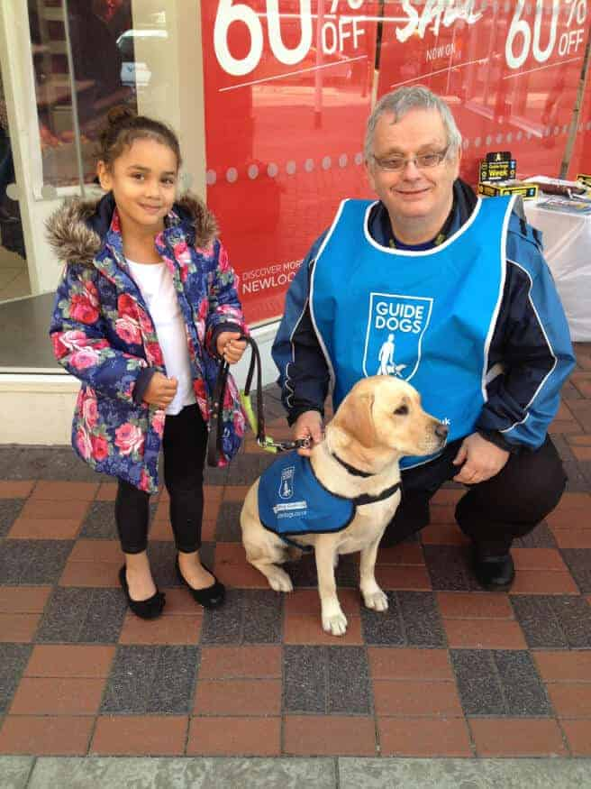 visiting a guide dog in chorley