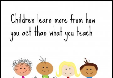 children learn from how you act