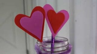valentines heart pencil toppers