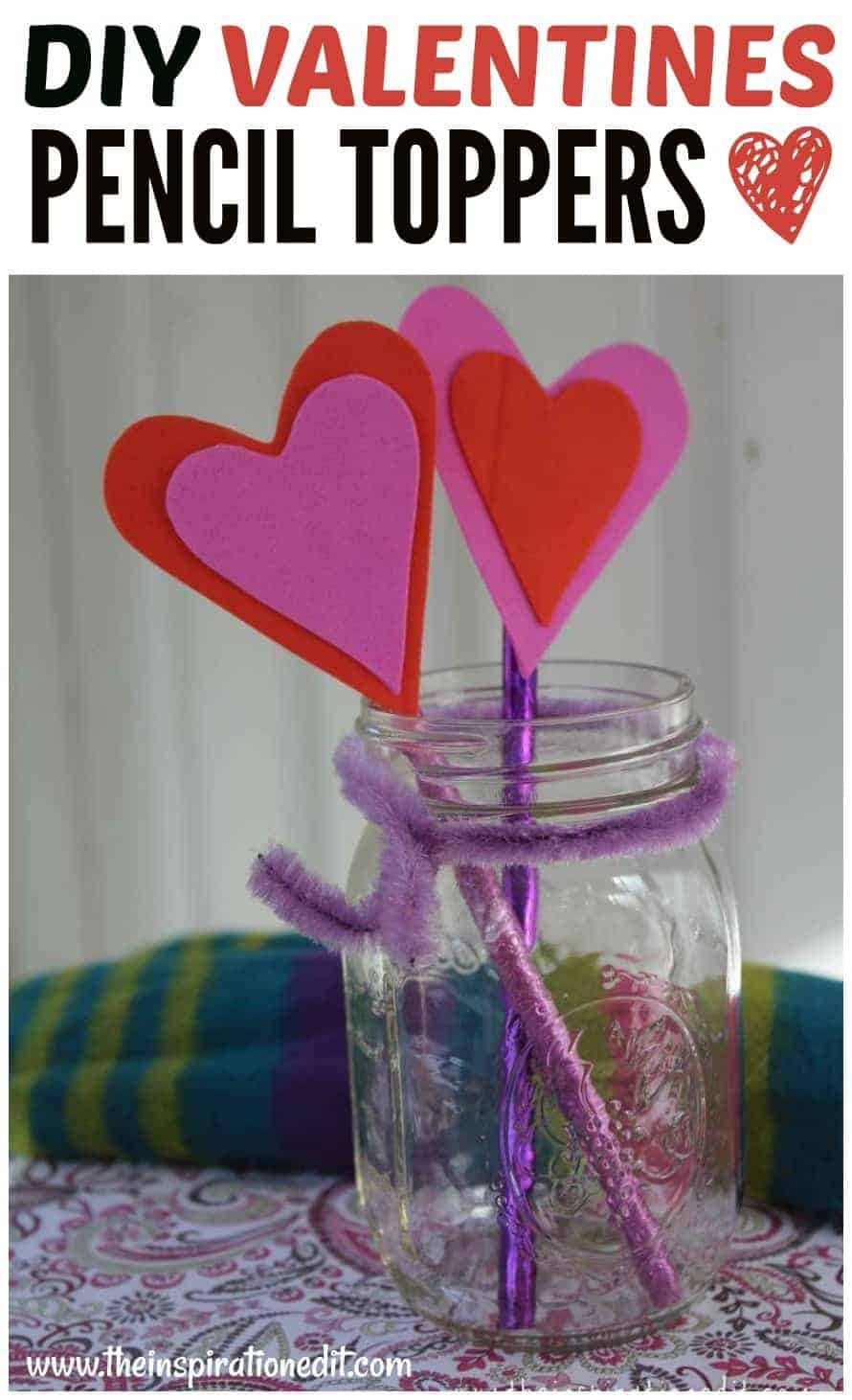 VALENTINES CRAFT DIY PENCIL TOPPERS