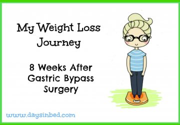 8 weeks after gastric bypass and bariatric surgery