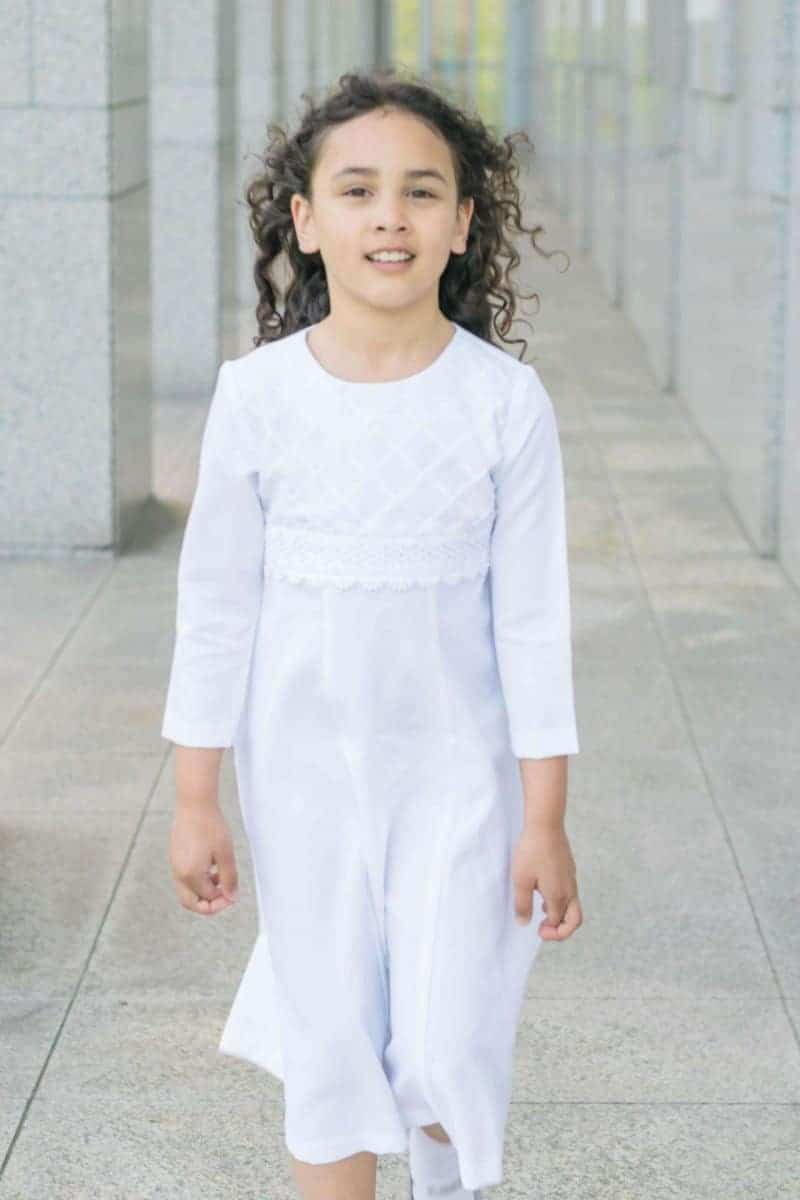 8 year old baptism dress