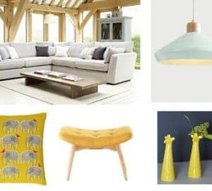 yellow Lounge Mood Board