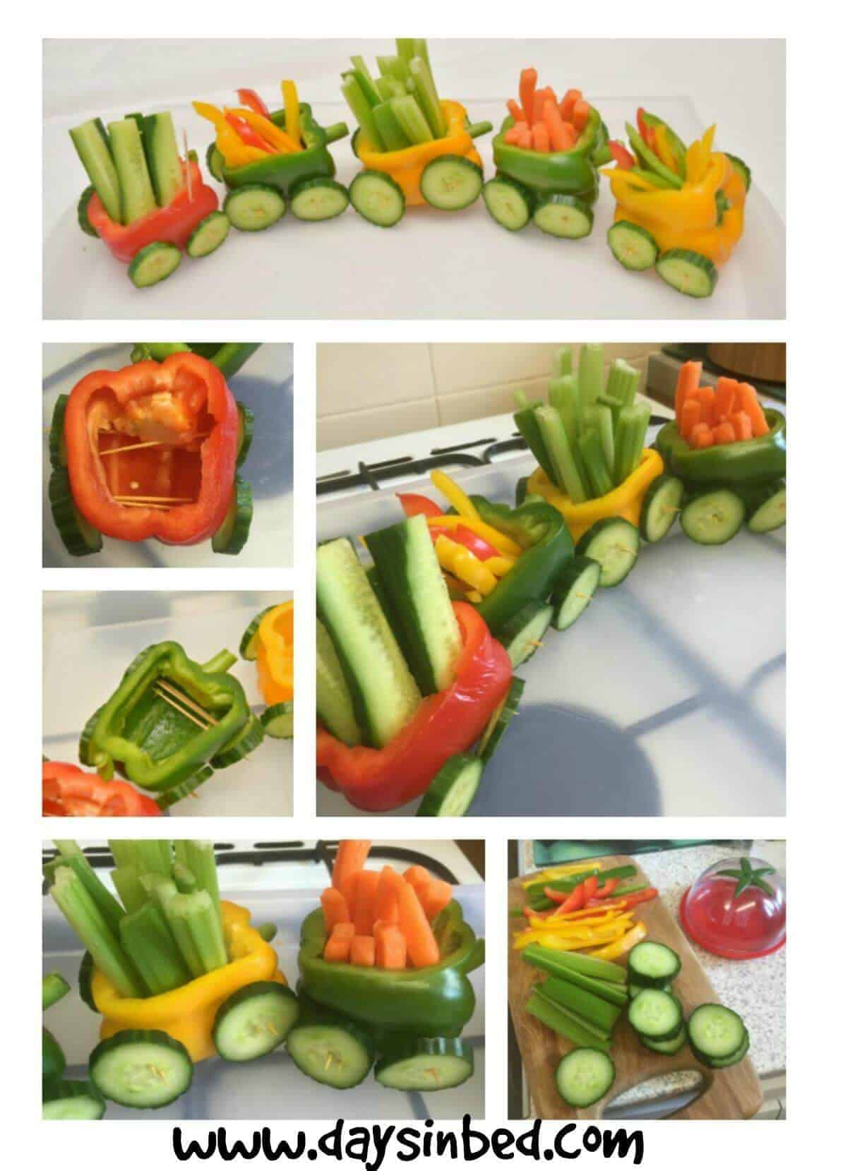 Vegetable train a fun party food idea the inspiration edit - Fun food to make with kids ...