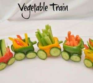 vegetable train pepper train idea