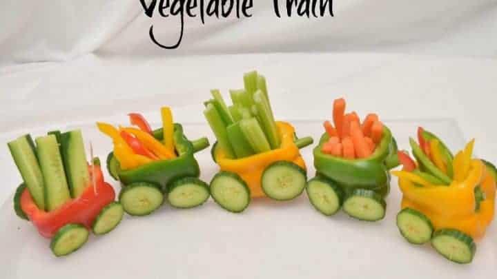 Vegetable Train A Fun Party Food Idea