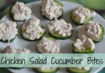 cucumber bites with chicken