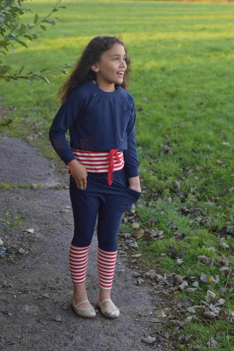 girls stripy outfit