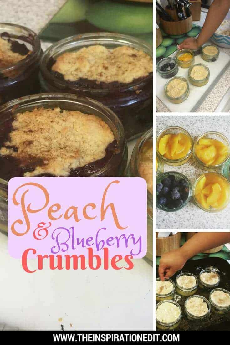 How to Make Peach and Blueberry Crumbles