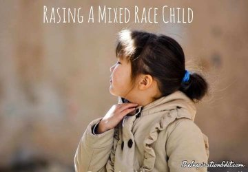 mixed race child