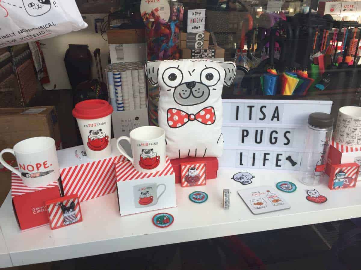 pug shop display