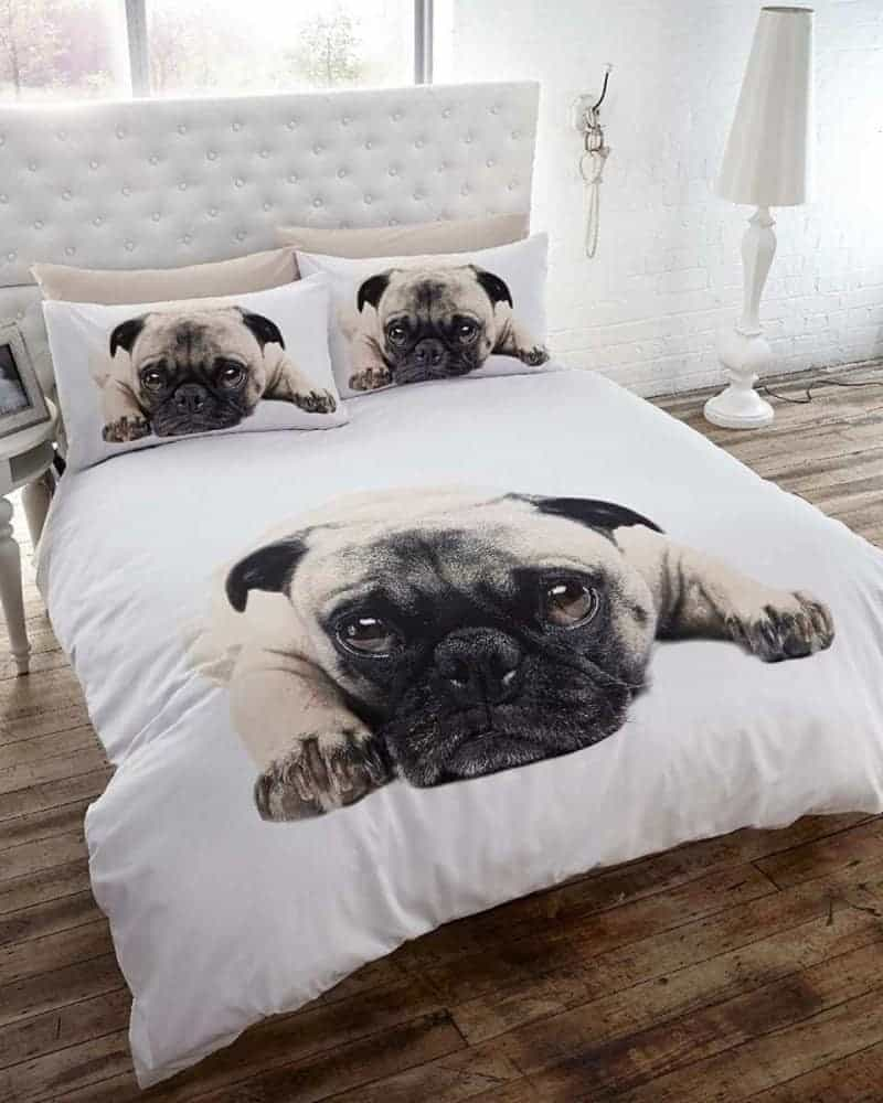 A pug themed bedroom for dog lovers the inspiration edit for Dog themed bedroom ideas