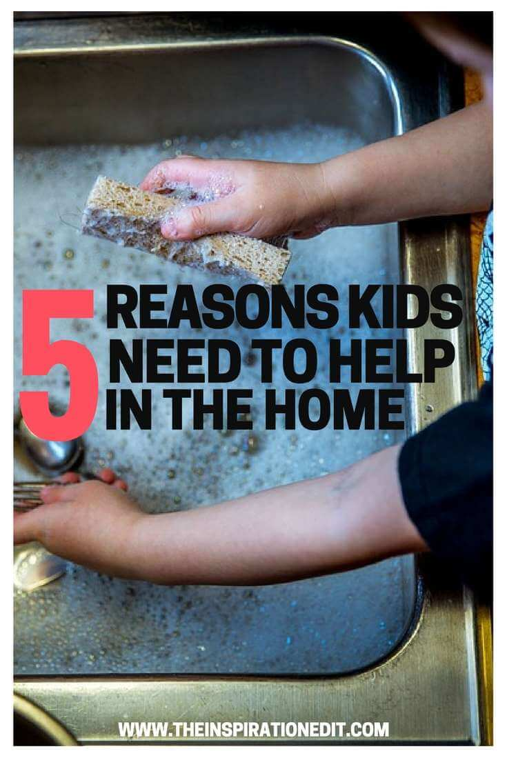 Parents should learn 5 reasons kids to help in work at home and helping each other could make finish things faster like cleaning, learning, appreciation etc