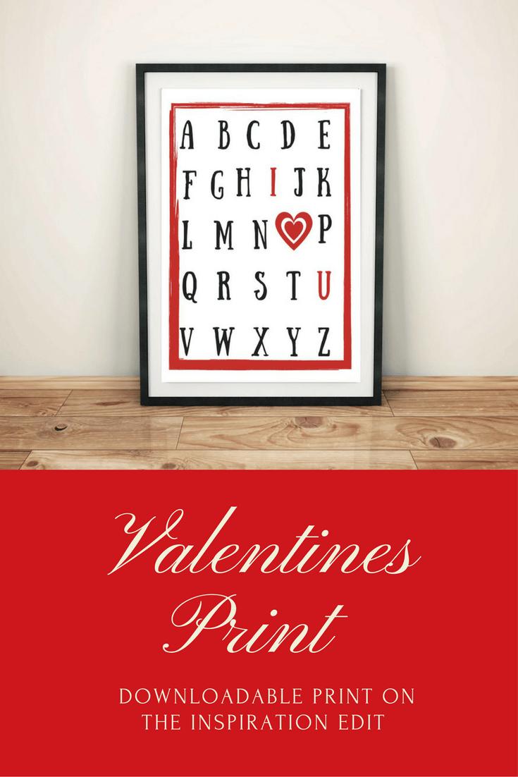 valentines print