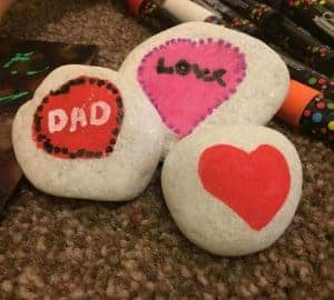 valentines day painted rocks