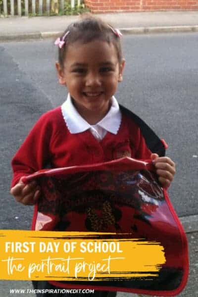 first day of school the portrait project