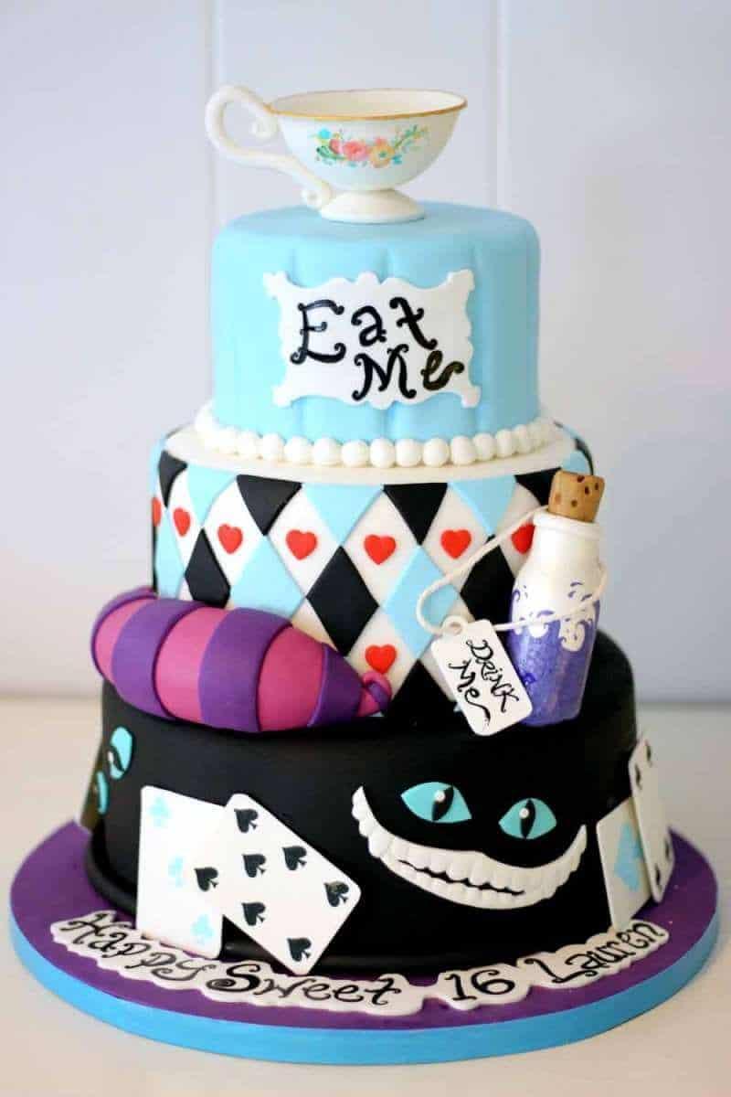 Alice In Wonderland Cake Mad Hatter Cake