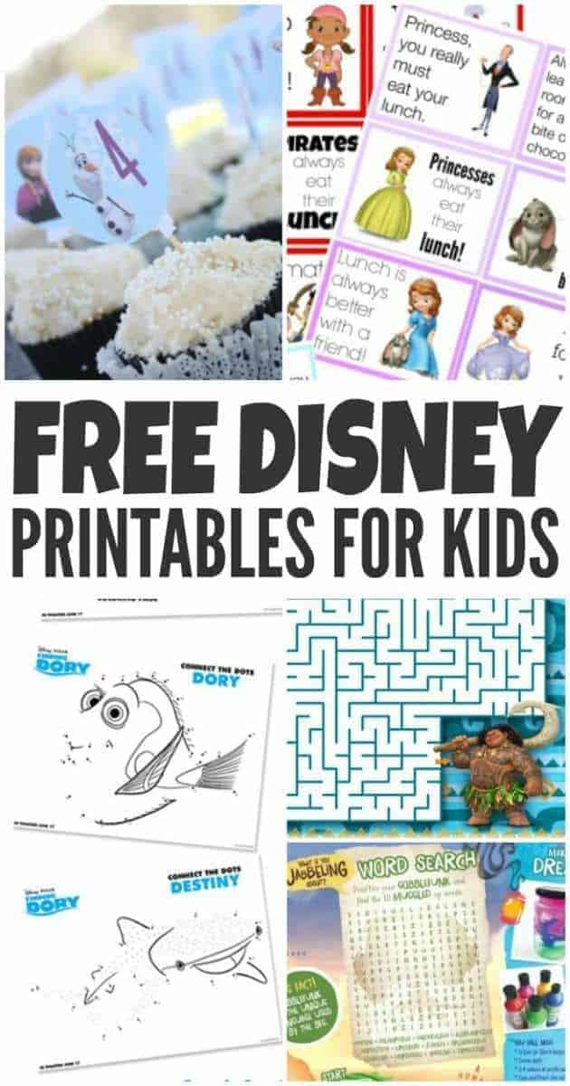 Free Disney Printables For Your Kids The Inspiration Edit