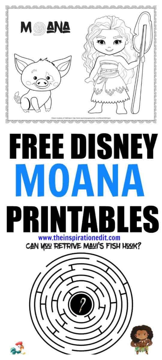 Disney Moana colouring activity sheets. Disney Moana activities for kids