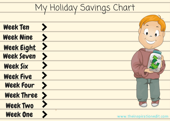 My Holiday Savings Chart