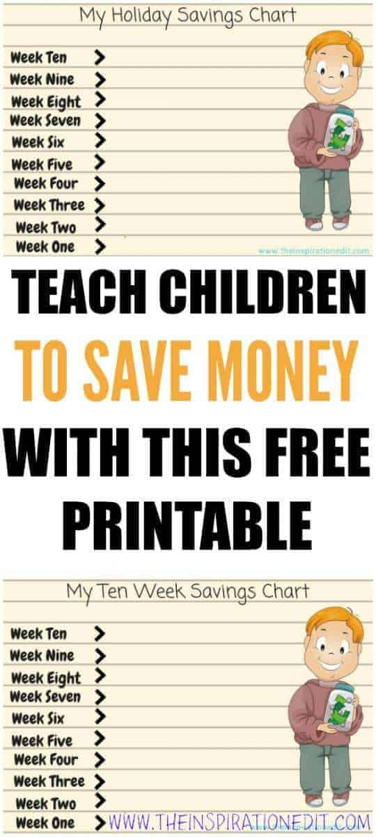 Free SAVINGS Chart