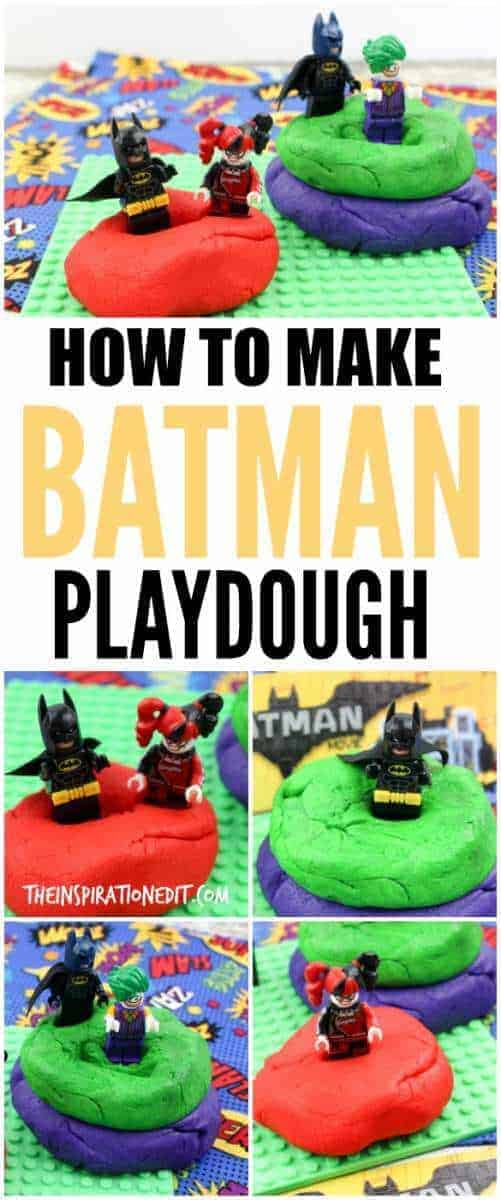 How to make amazing batman lego playdough, playdough recipe, playdough tutorial, batman lego movie