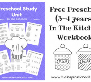 Preschool Study Unit In The Kitchen