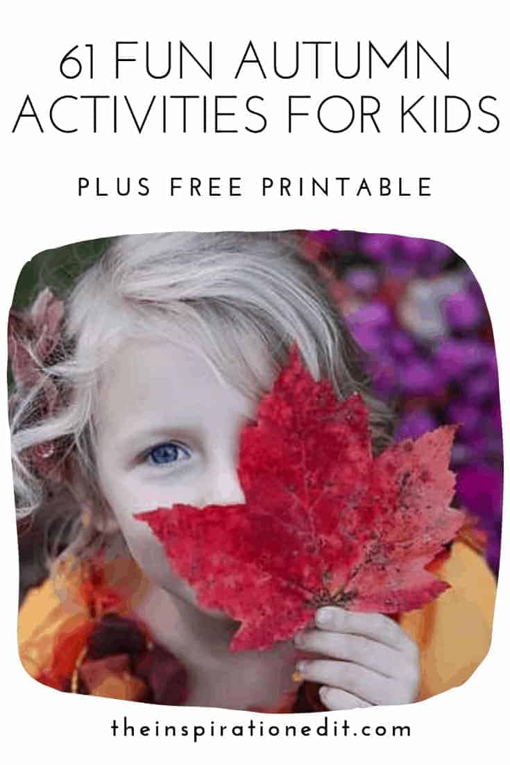 Grab this wonderful autumn kid-friendly guide for fun fall activities for kids!