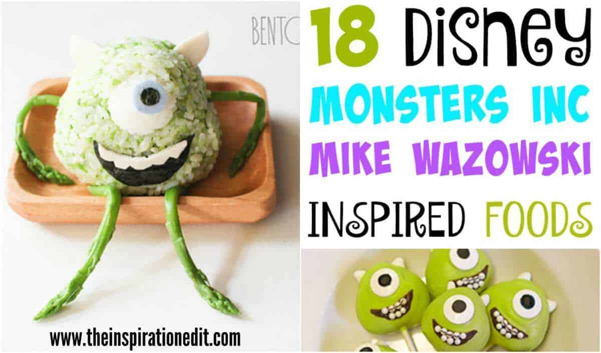 Monsters Inc Mike Wasowski Food Ideas