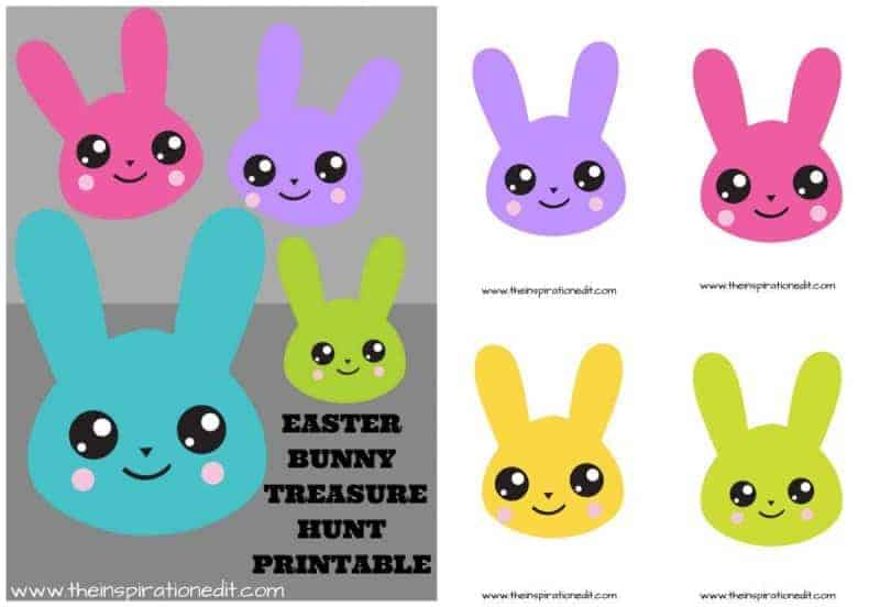 Free Easter Bunny Treasure Hunt Printable