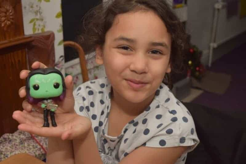 Gamora bobble head toy from Guardians of the galaxy movie