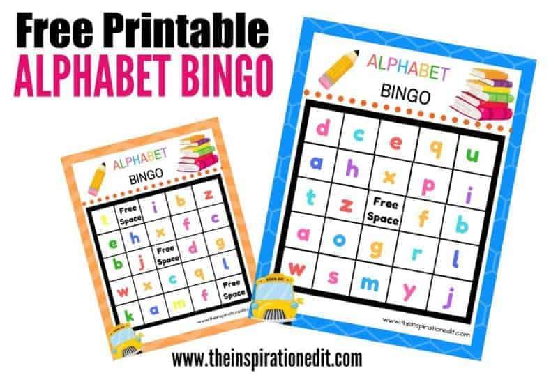 Alphabet bingo for kids