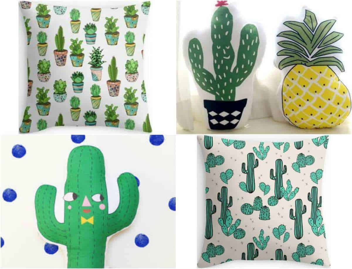 Cactus cushions for a cactus room