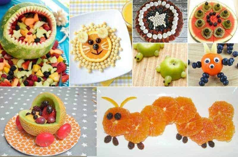 Cute fruit snack ideas for kids