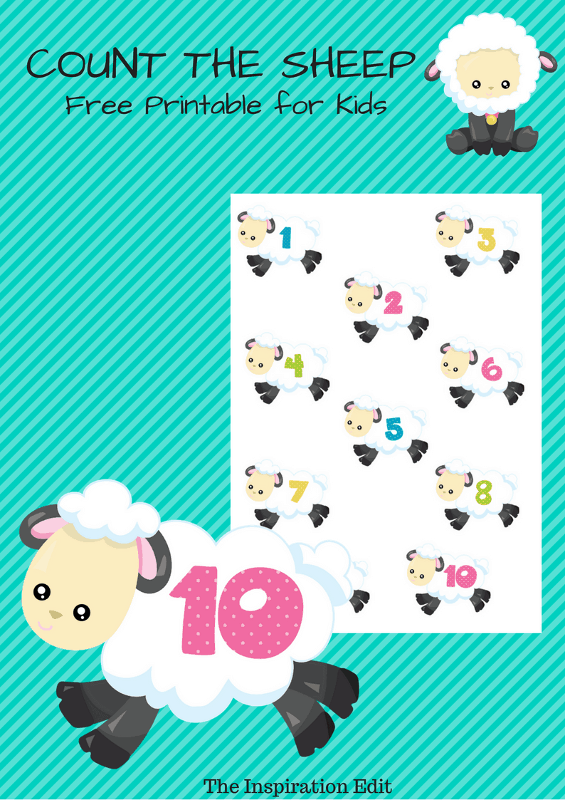 count the sheep printable
