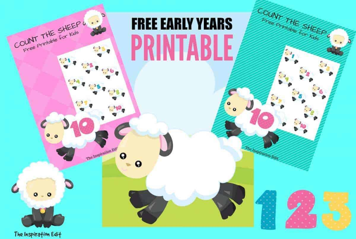 Free Early Years Count The Sheep Printable · The Inspiration Edit