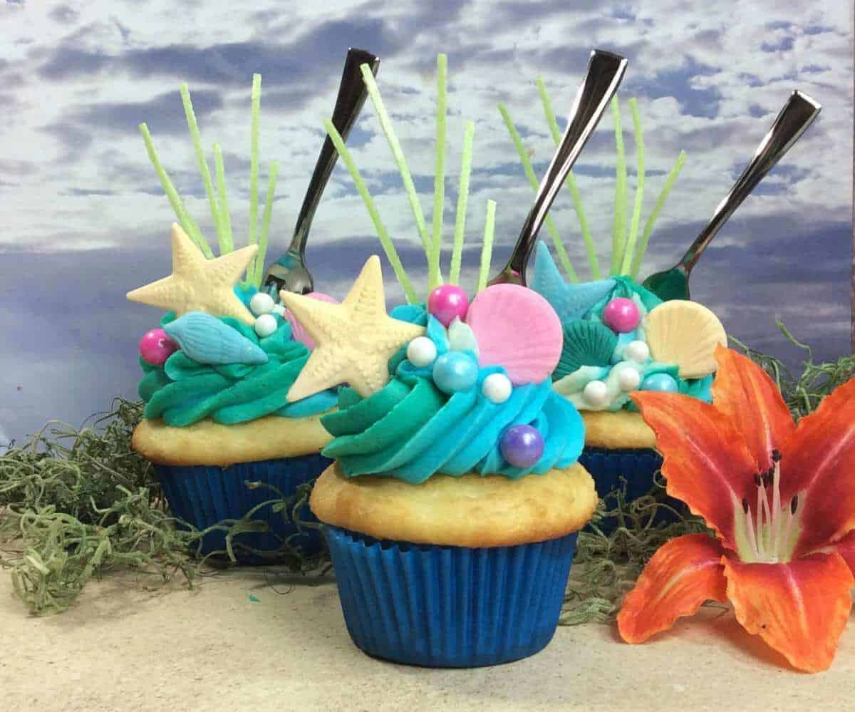 The Little Mermaid Ariel Fork CUPCAKE Food Idea
