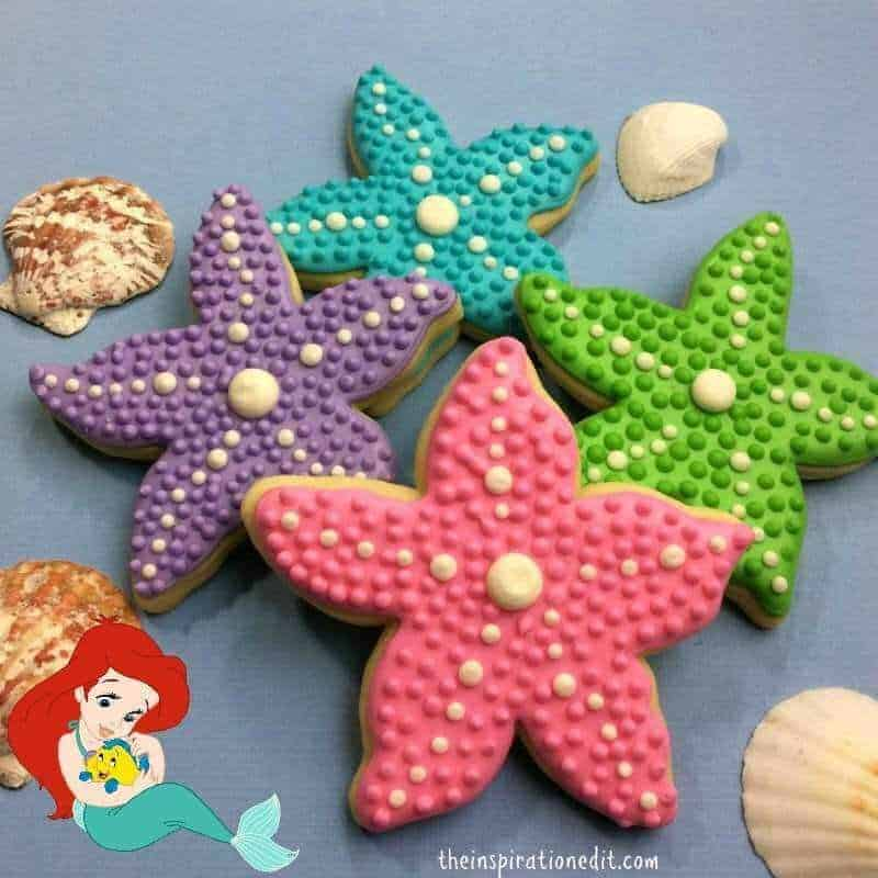 The Little Mermaid Starfish Cookie Food Idea