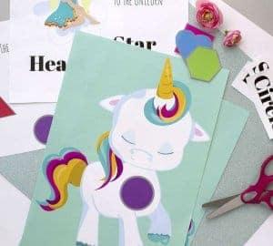 unicorn preschool shapes printable