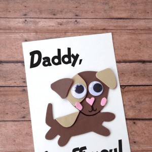 dog fathers day card template