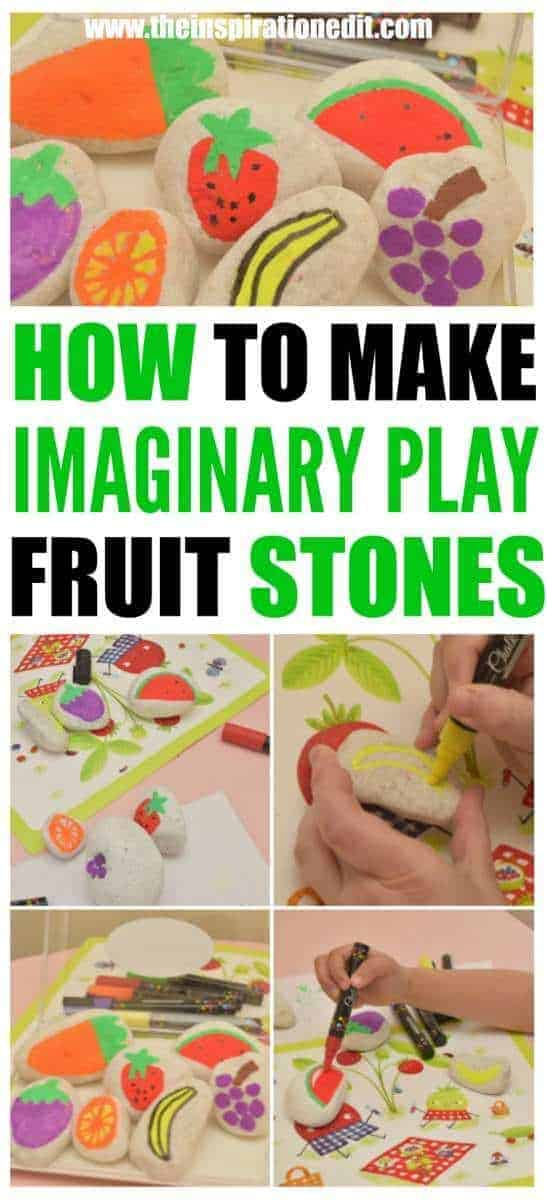 Imaginary Play Activity Idea For Kids Fruit Story Stones
