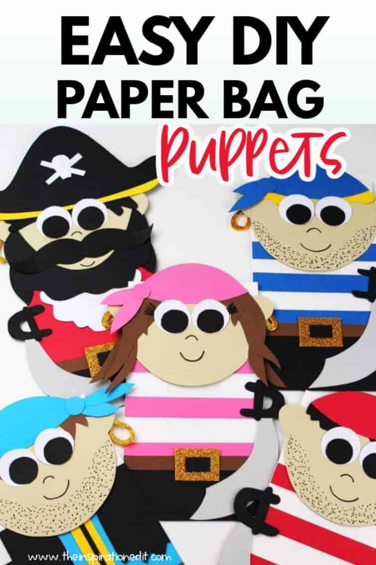 paper bag pirate puppets