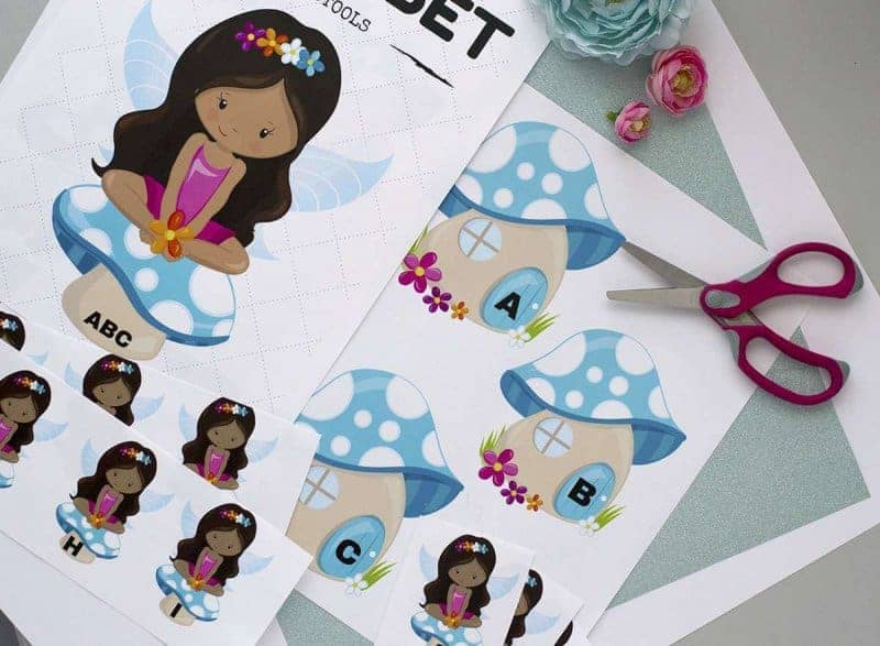 fairy themed alphabet printables for early years