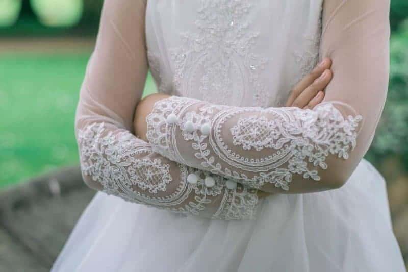 girls ivory flower girl dress