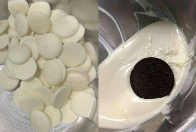 melting oreos
