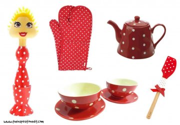 polka dot kitchen items