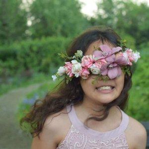 flower girl in a dress