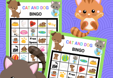 cats and dog bingo printable